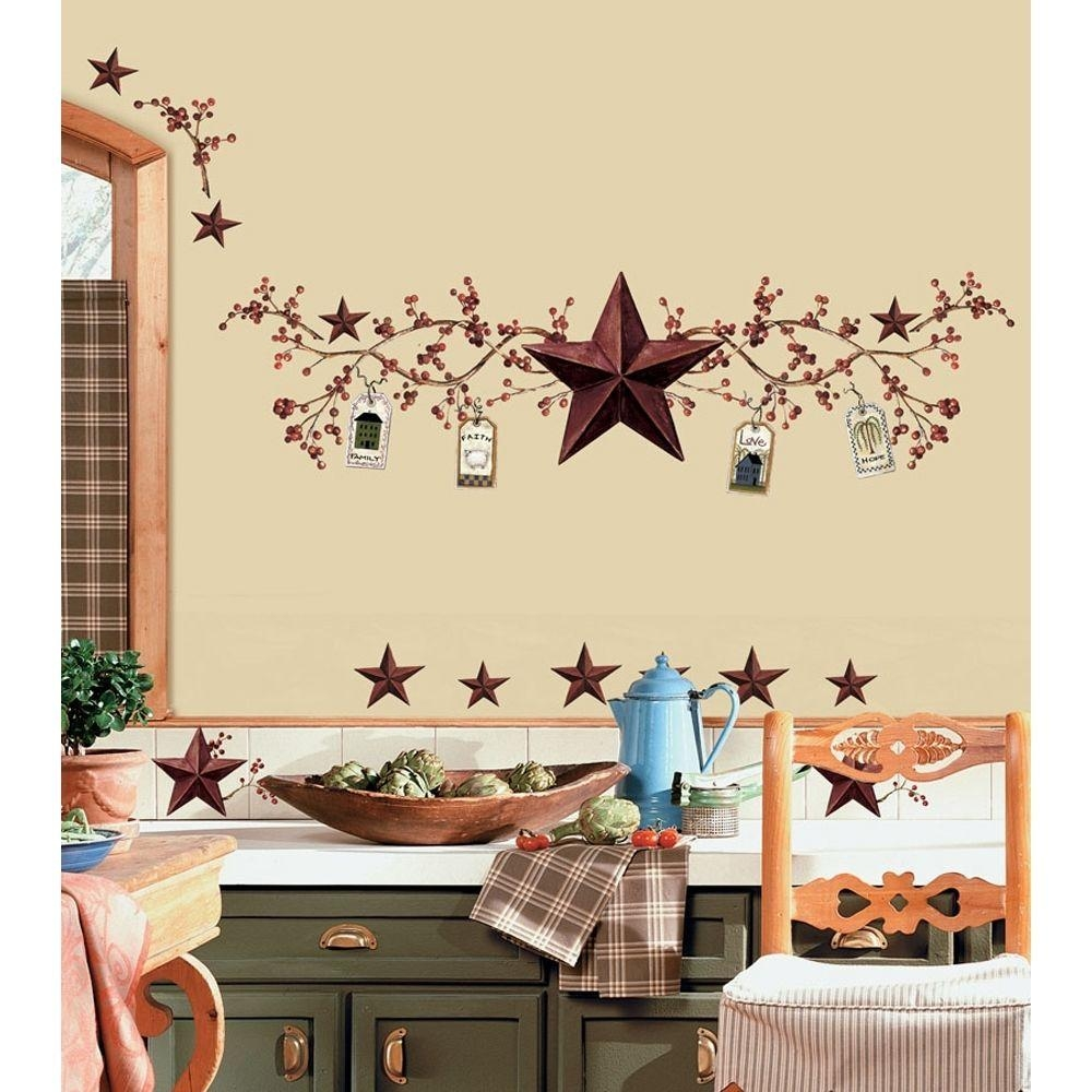 Kitchen Wall Decor Stickers | Roselawnlutheran With Regard To Primitive Wall Art (Image 11 of 20)
