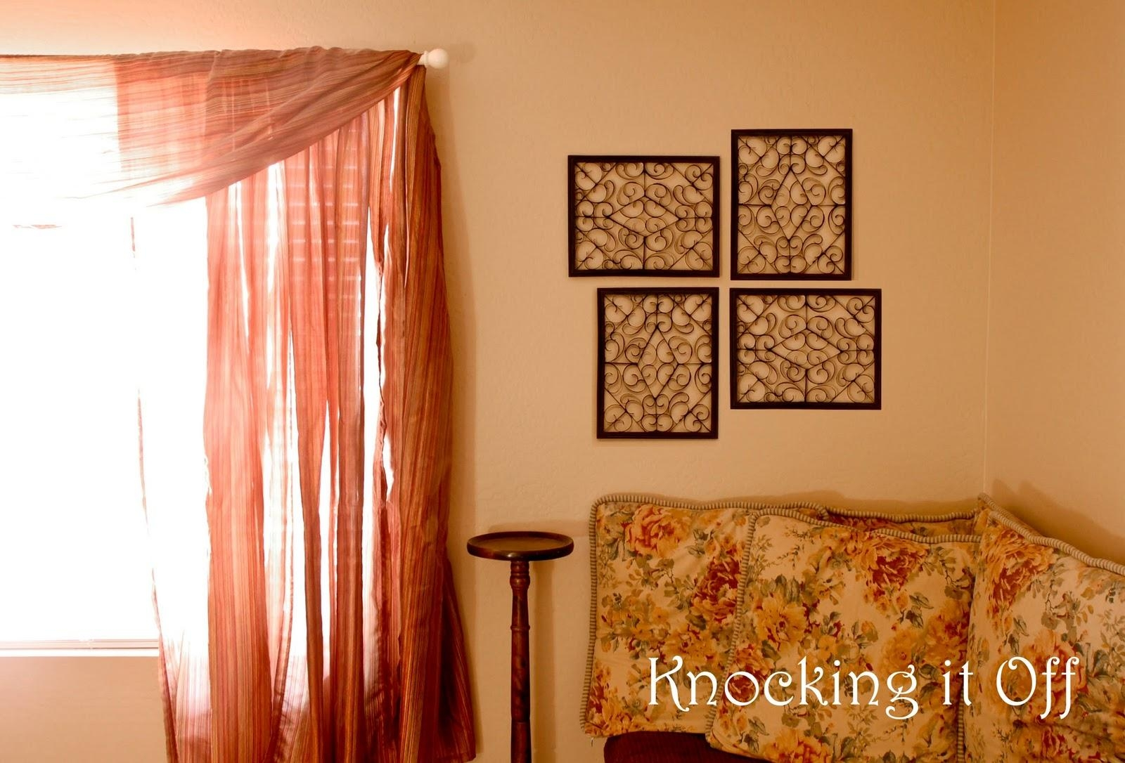 Knocking It Off: Tribute To: Cardboard! (Faux Wrought Iron Wall In Faux Wrought Iron Wall Decors (Image 14 of 20)