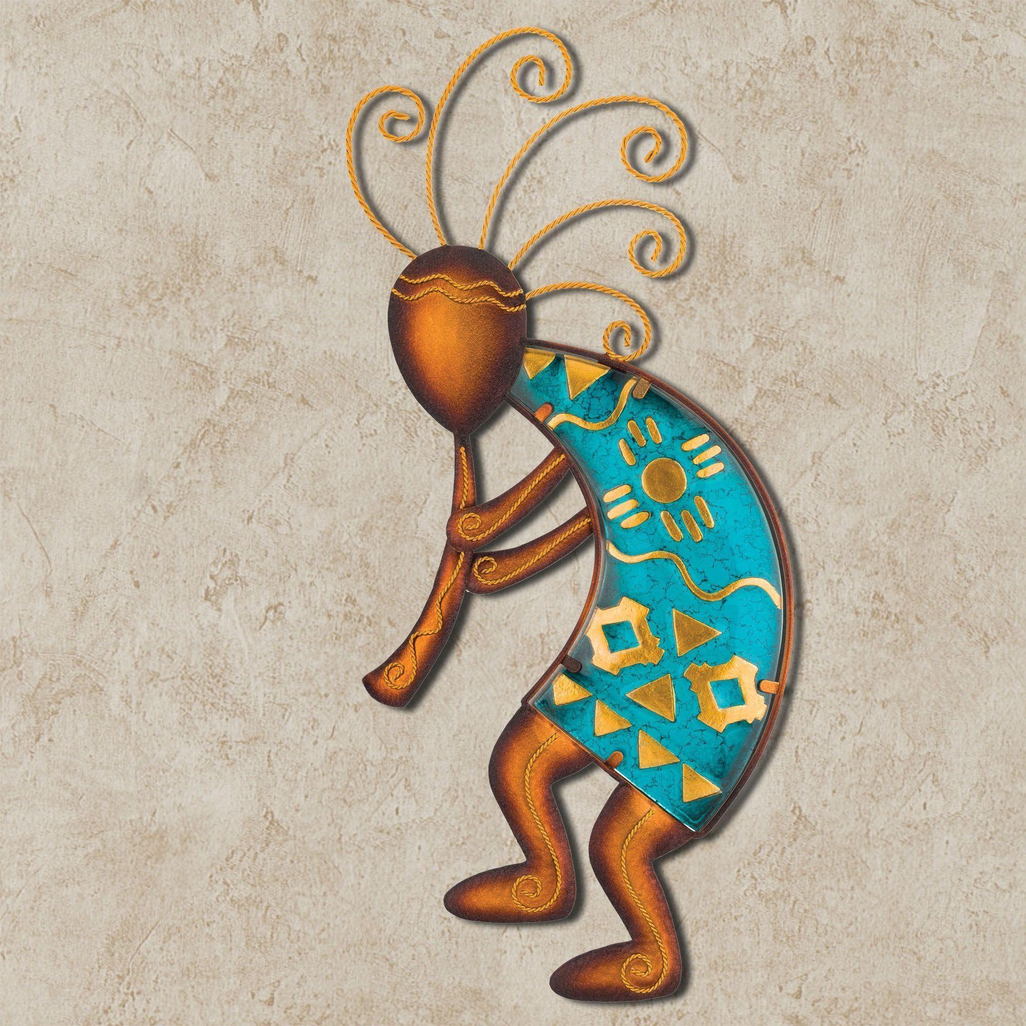 Kokopelli Dancer Southwest Wall Art Within Kokopelli Metal Wall Art (Image 13 of 20)