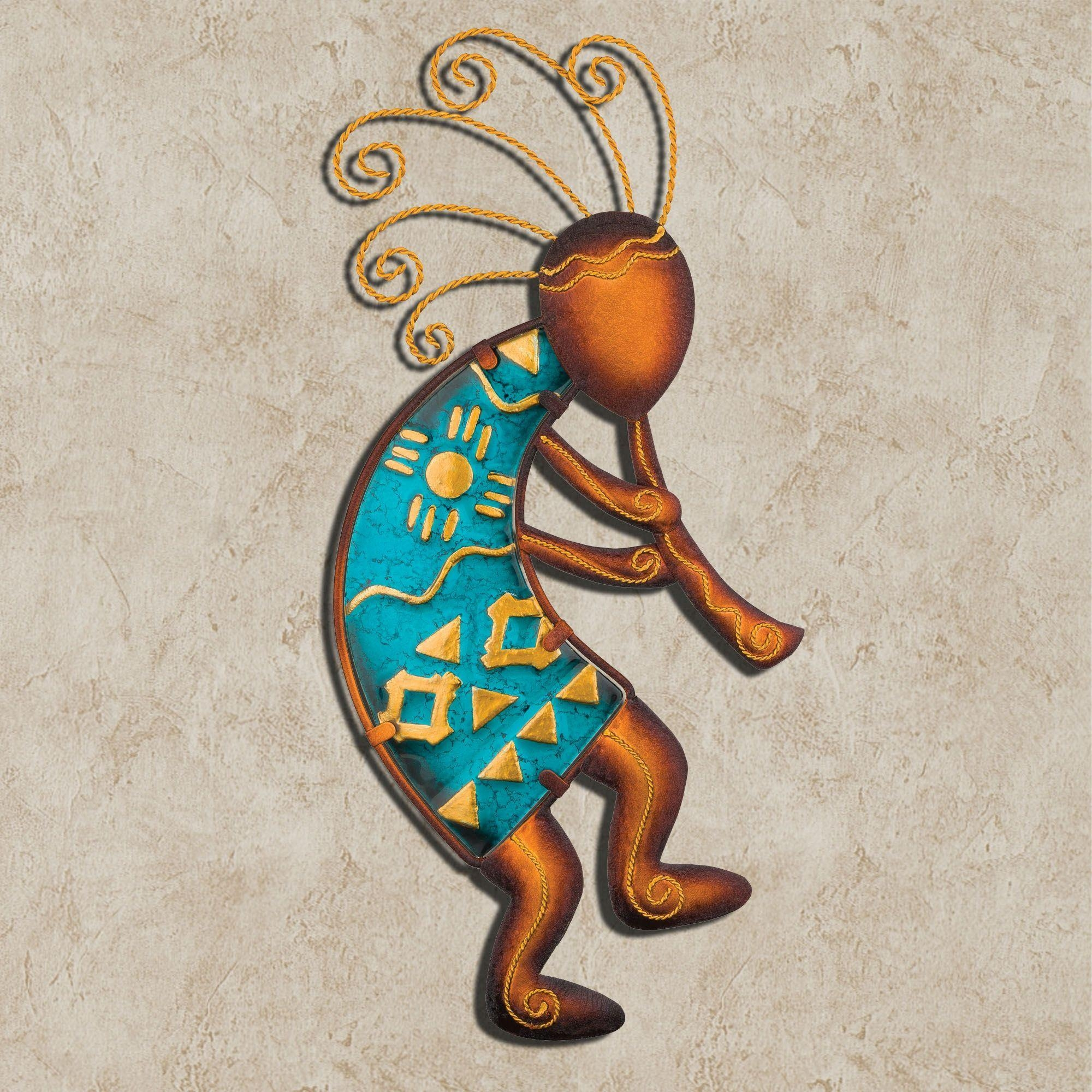 Kokopelli Flutist Southwest Wall Art Pertaining To Kokopelli Metal Wall Art (Image 15 of 20)