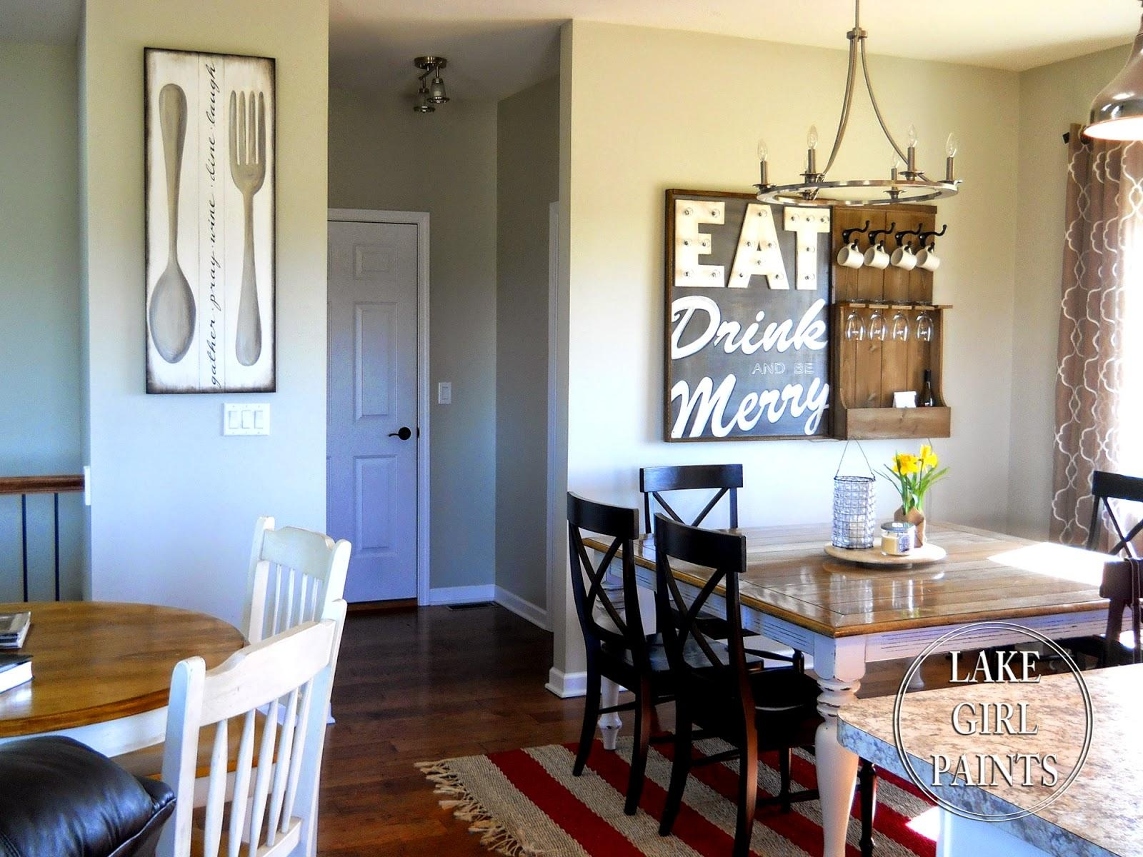 Lake Girl Paints: Making Dining Room Wall Art Pertaining To Dining Area Wall Art (View 5 of 20)