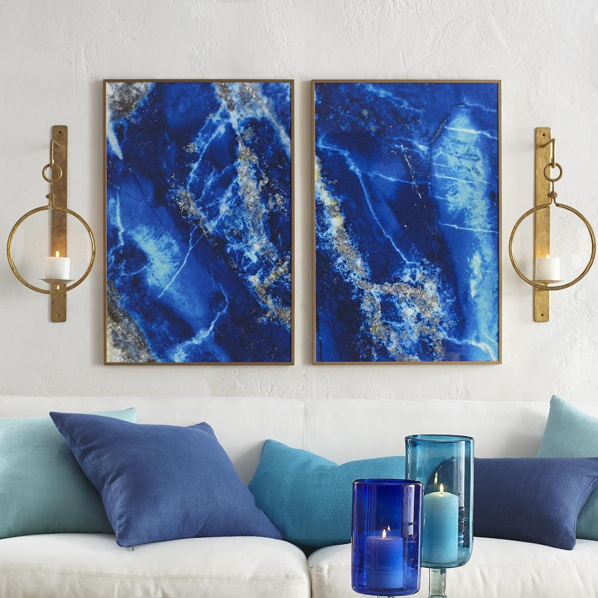 Lapis Lazuli Wall Art – Lazur | Wisteria Intended For Blue Wall Art (View 14 of 20)