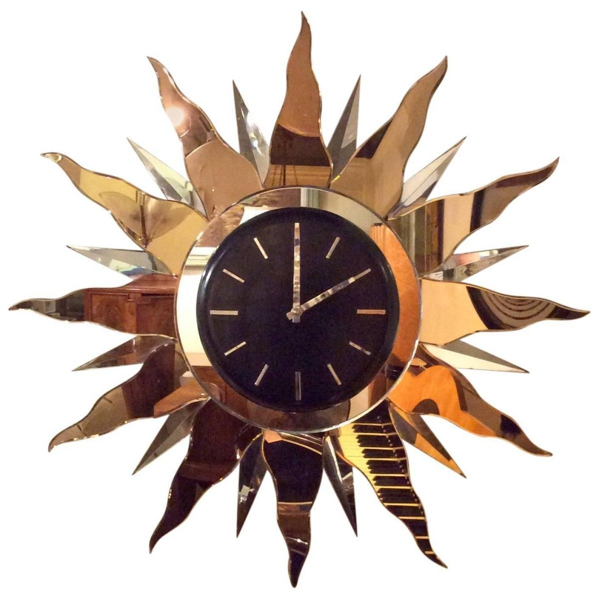 Large Art Deco Wall Clock, 1930S For Sale At Pamono In Large Art Deco Wall Clocks (Image 10 of 20)