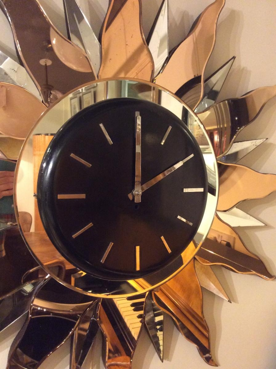 Large Art Deco Wall Clock, 1930S For Sale At Pamono Throughout Large Art Deco Wall Clocks (Image 11 of 20)