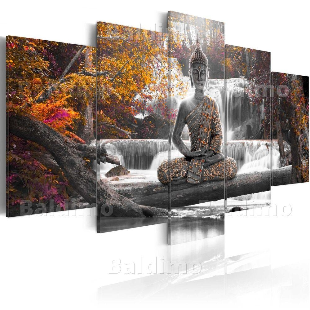 Large Canvas Wall Art Print + Image + Picture + Photo Buddha Throughout Large Buddha Wall Art (Image 13 of 20)