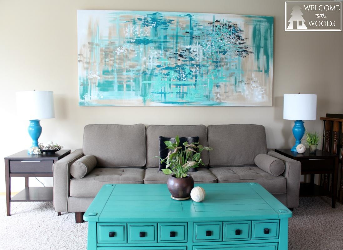 Large Canvas Wall Art – Welcome To The Woods Throughout Horizontal Canvas Wall Art (Image 12 of 20)