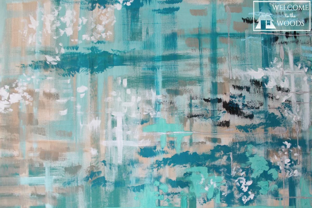 Featured Image of Large Teal Wall Art