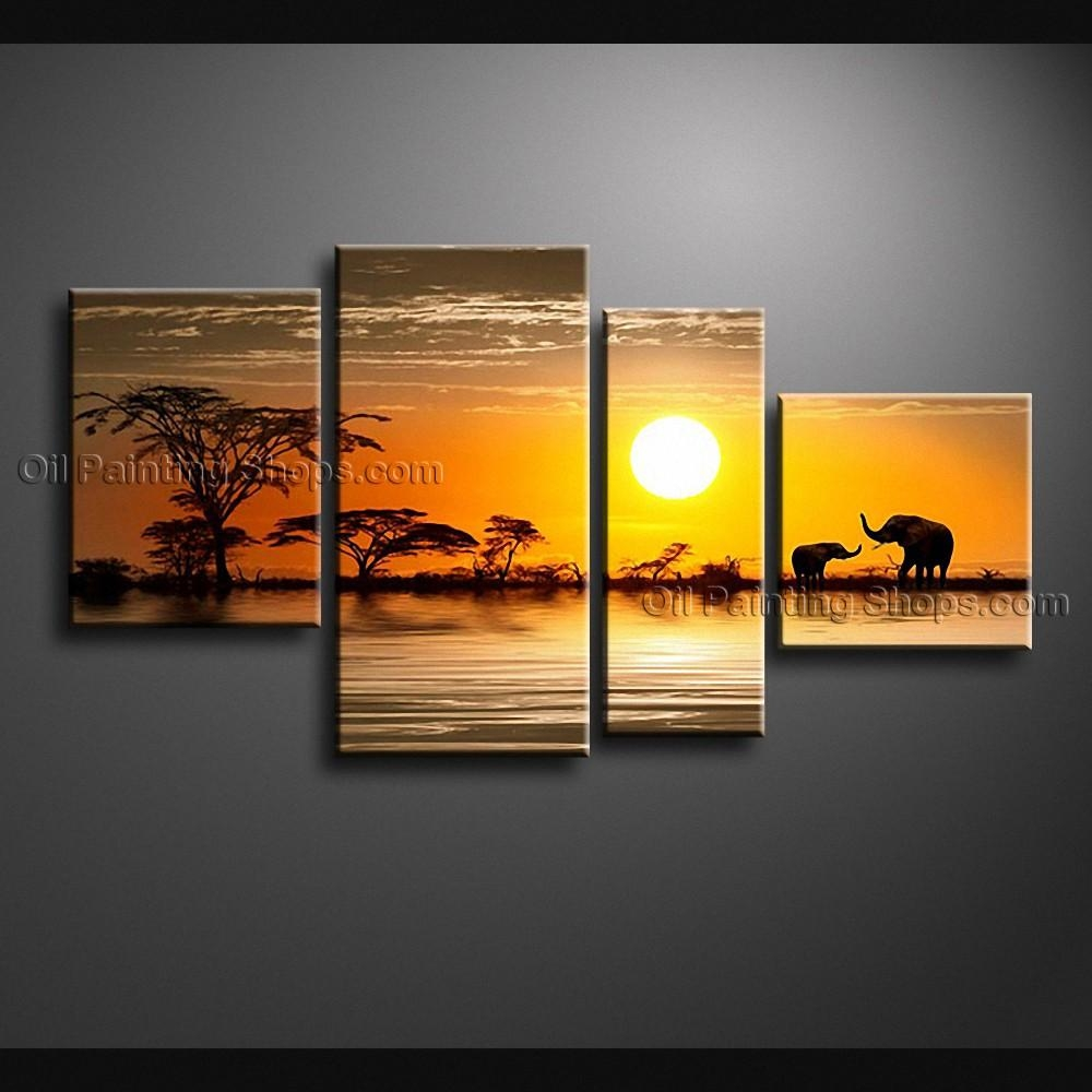 Large Contemporary Wall Art Landscape Painting Decoration Ideas In Large Modern Wall Art (View 2 of 20)