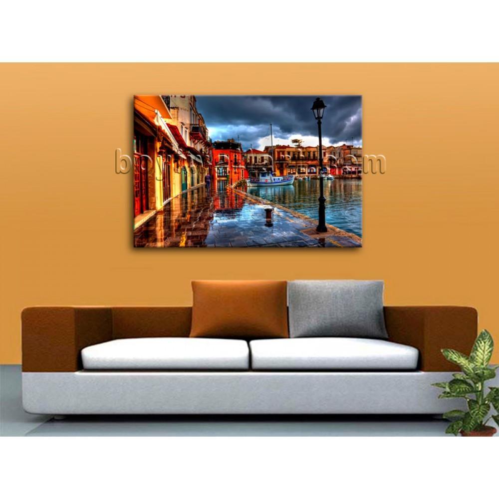 Large Framed Wall Art City Landscape Sunset Picture Print On Regarding Large Framed Wall Art (View 14 of 20)