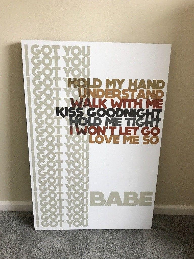Large Lyricology I Got You Babe Wall Art Picturedemdaco 61Cm X Intended For Lyricology Wall Art (View 5 of 20)