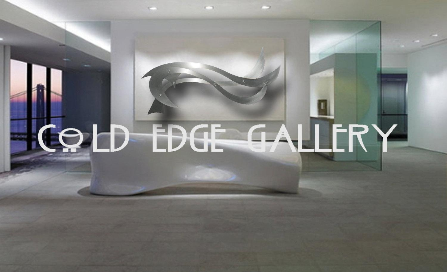 Large Metal Wall Art Corporate Wall Art Extra Large Wall Throughout Large Abstract Metal Wall Art (Image 13 of 20)