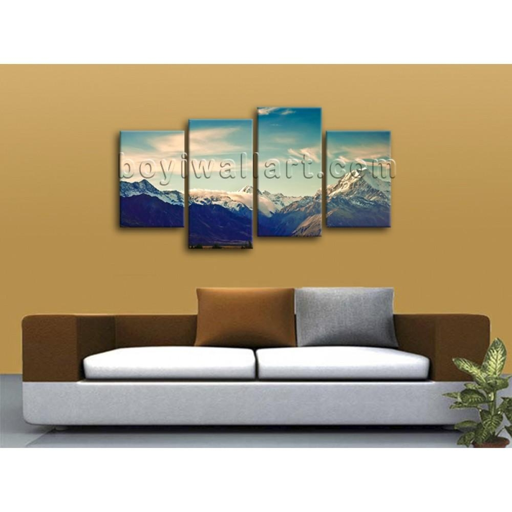 Large Multiple Pieces Contemporary Home Decor Landscape Wall Art In Wall Art Multiple Pieces (View 7 of 20)