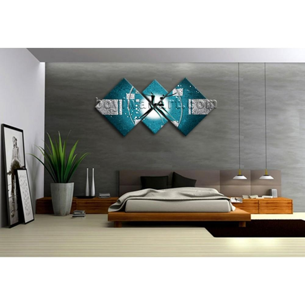 Large Multiple Pieces Modern Abstract Painting Wall Art Print Intended For Wall Art Multiple Pieces (Image 4 of 20)