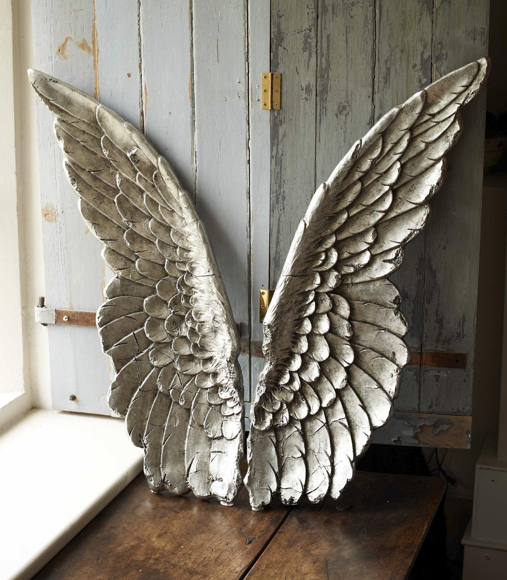 Large Size Resin Angel Wing Decor Intended For Angel Wings Wall Art (Image 16 of 20)