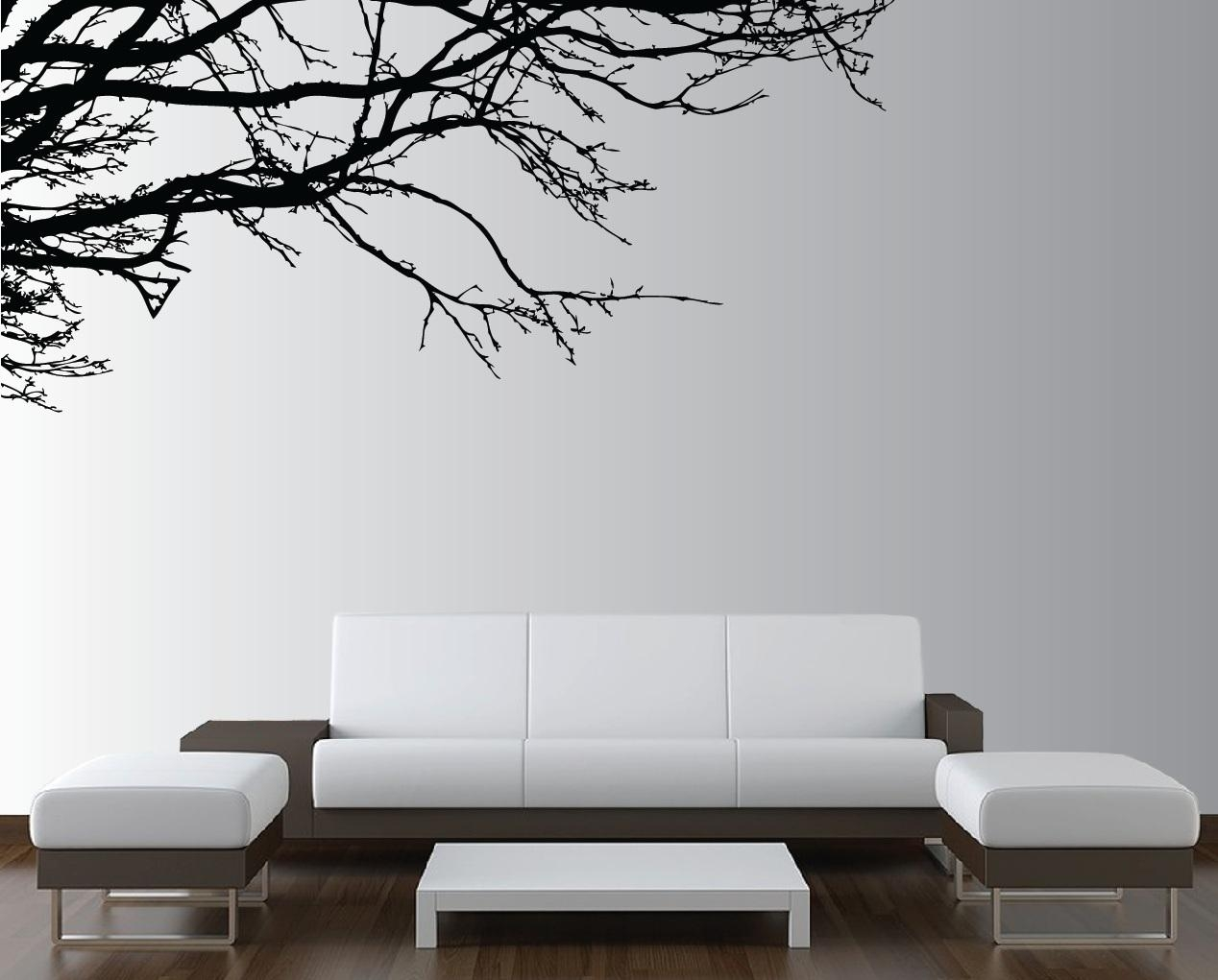 Large Tree Wall Decals Large Wall Tree Nursery Decal Oak Branches Regarding Oak Tree Wall Art (View 20 of 20)