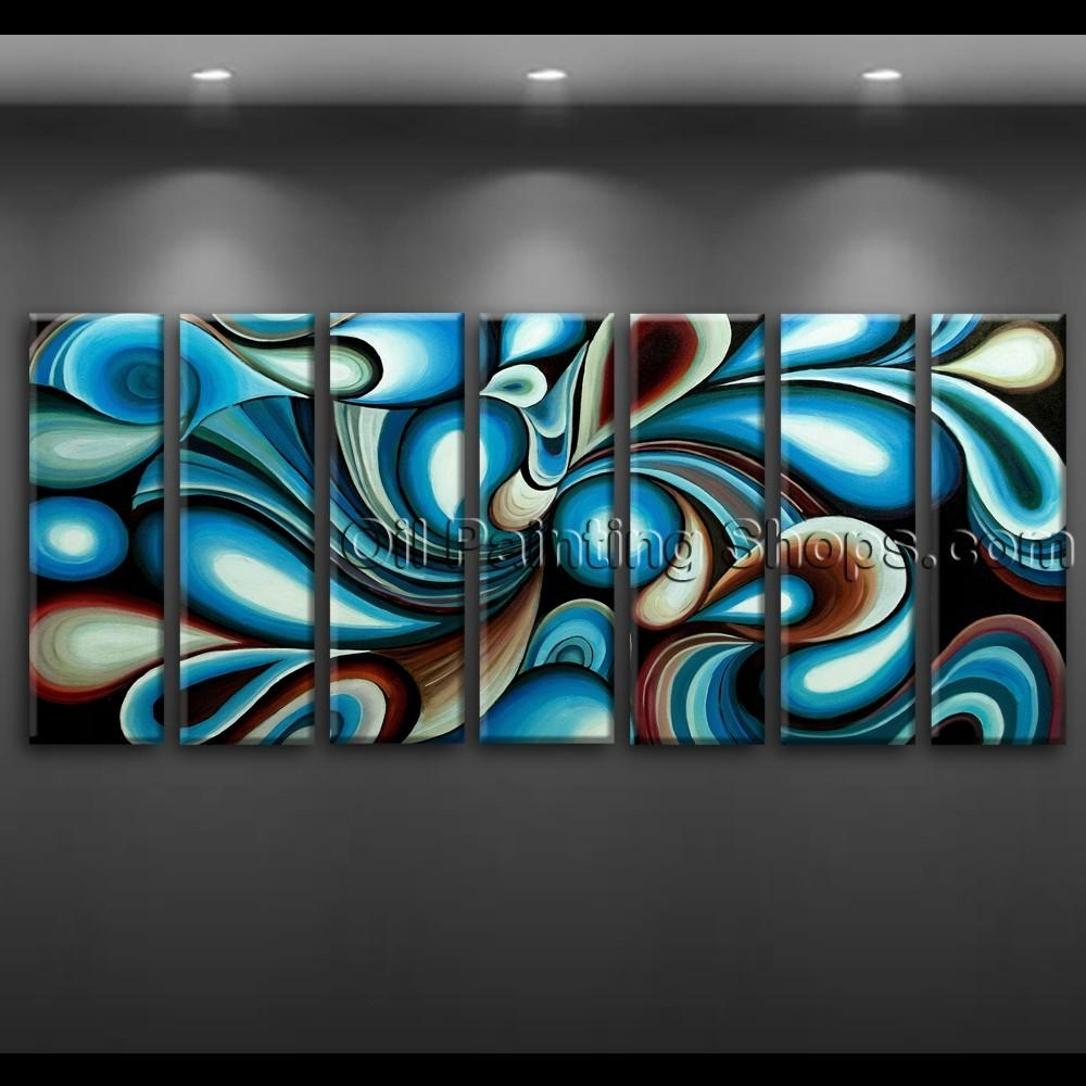 Large Wall Art Colorful Abstract Oil Painting On Canvas Modern Framed Pertaining To Colorful Abstract Wall Art (Image 14 of 20)