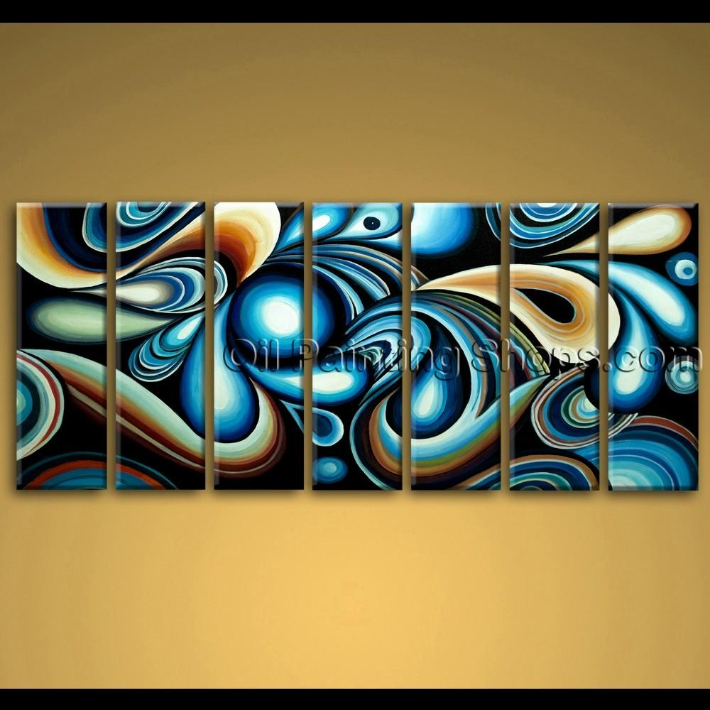 Large Wall Art Colorful Abstract Oil Painting On Canvas Modern Framed With Regard To Extra Large Framed Wall Art (Image 9 of 20)