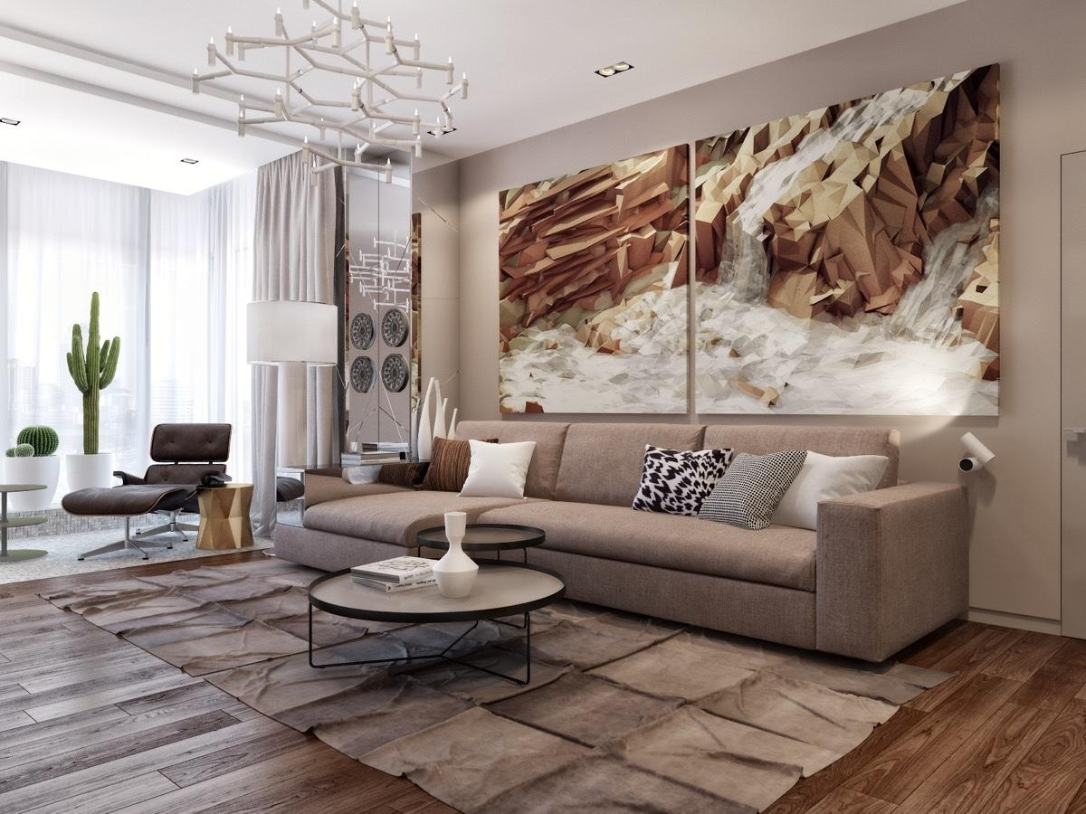 Featured Image of Sofa Size Wall Art & 8 Inspirations Sofa Size Wall Art | Wall Art Ideas