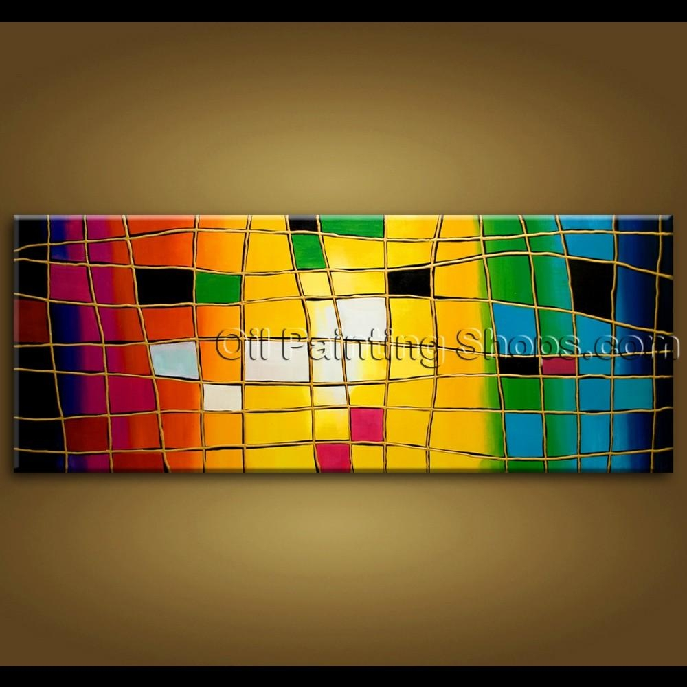 Large Wall Art Hand Painted Abstract Oil Painting On Canvas Modern With Regard To Huge Wall Art Canvas (Image 10 of 20)