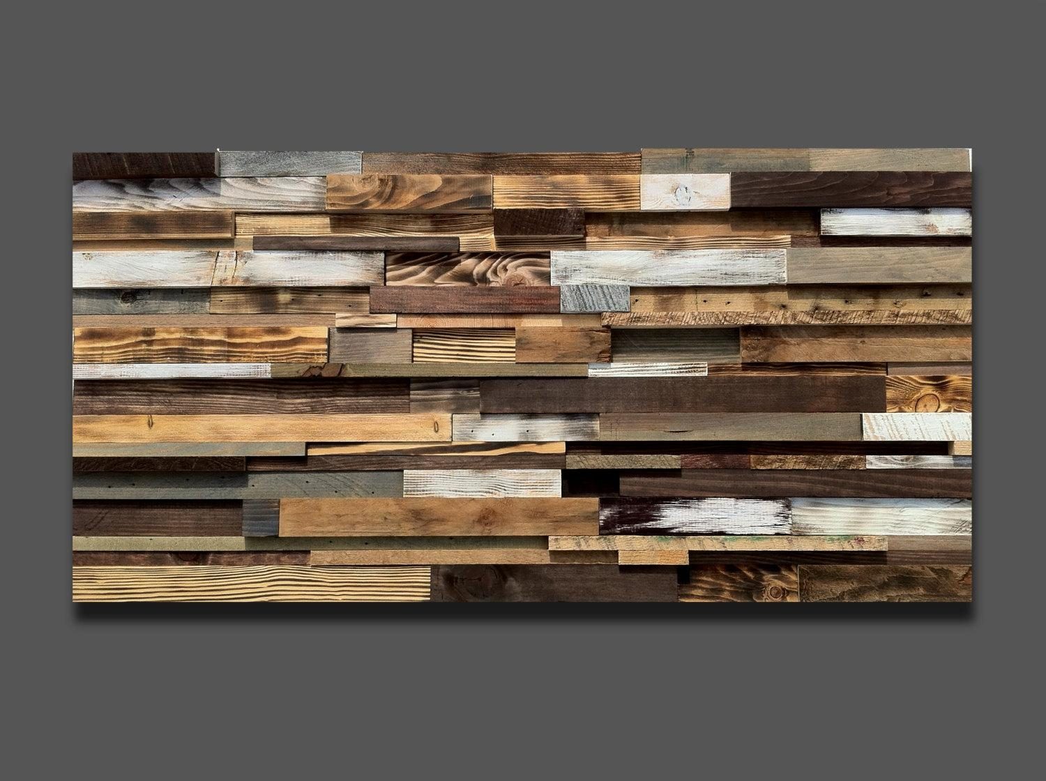 Large Wood Art *free Shipping* Reclaimed Wood Wall Art, Rustic With Large Unique Wall Art (Image 9 of 20)