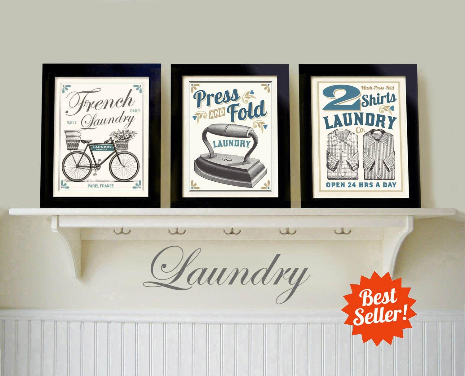 Laundry Room Art Old Fashioned Prints French Country Art Within French Country Wall Art Prints (Image 13 of 20)