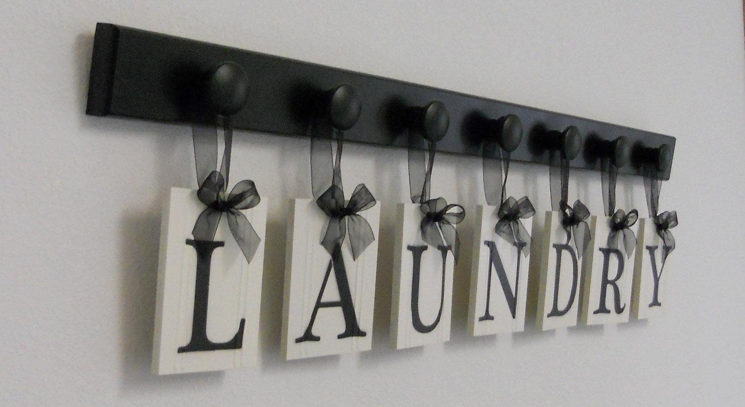 Laundry Room Sign Wall Decor Personalized Hanging Letters For Laundry Room Wall Art (Image 10 of 20)