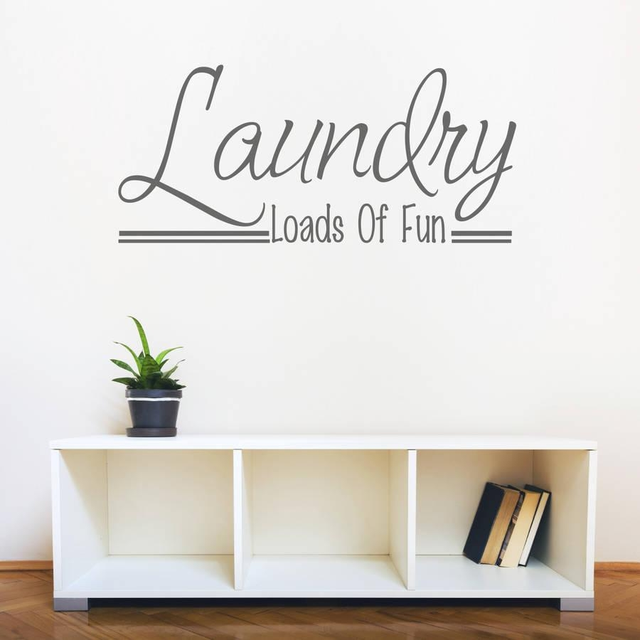 Laundry Room Wall Art Quotemirrorin | Notonthehighstreet Inside Laundry Room Wall Art (Image 13 of 20)