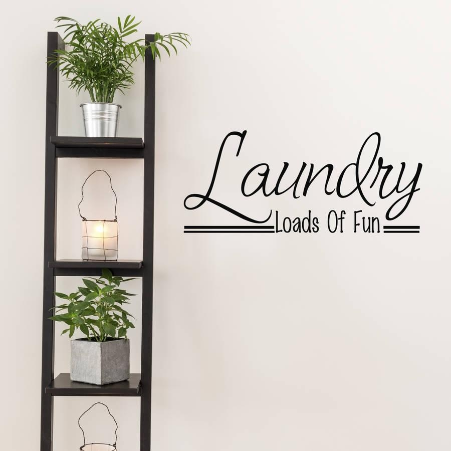Laundry Room Wall Art Quotemirrorin | Notonthehighstreet With Laundry Room Wall Art (View 19 of 20)