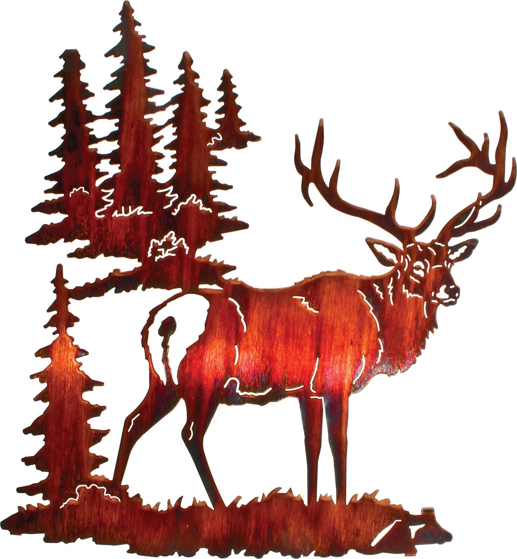 Lazart Elk Metal Wall Art Collection Inside Lazart Metal Art (View 12 of 20)