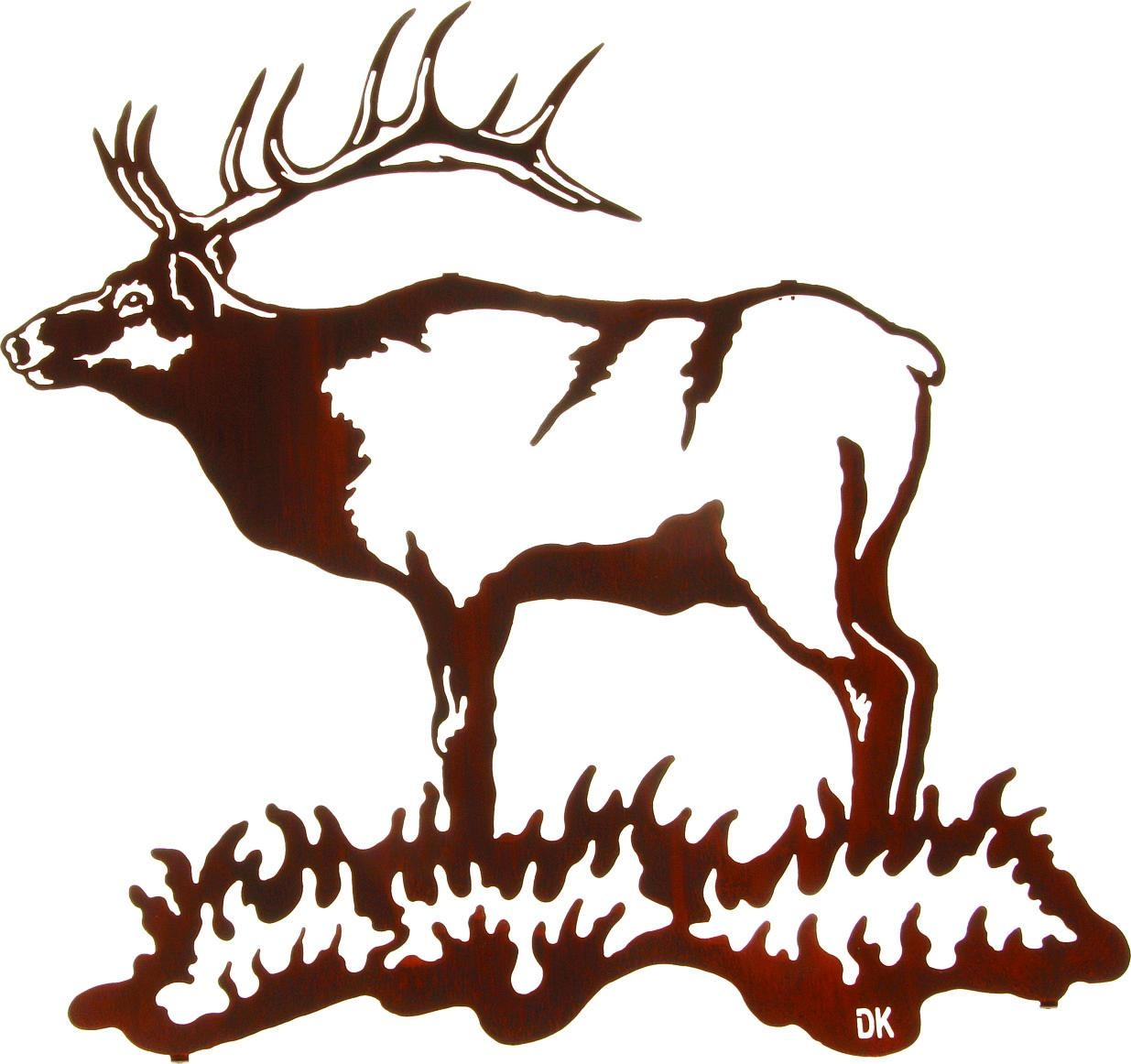 Lazart Elk Metal Wall Art Collection Pertaining To Lazart Metal Wall Art (Image 13 of 20)