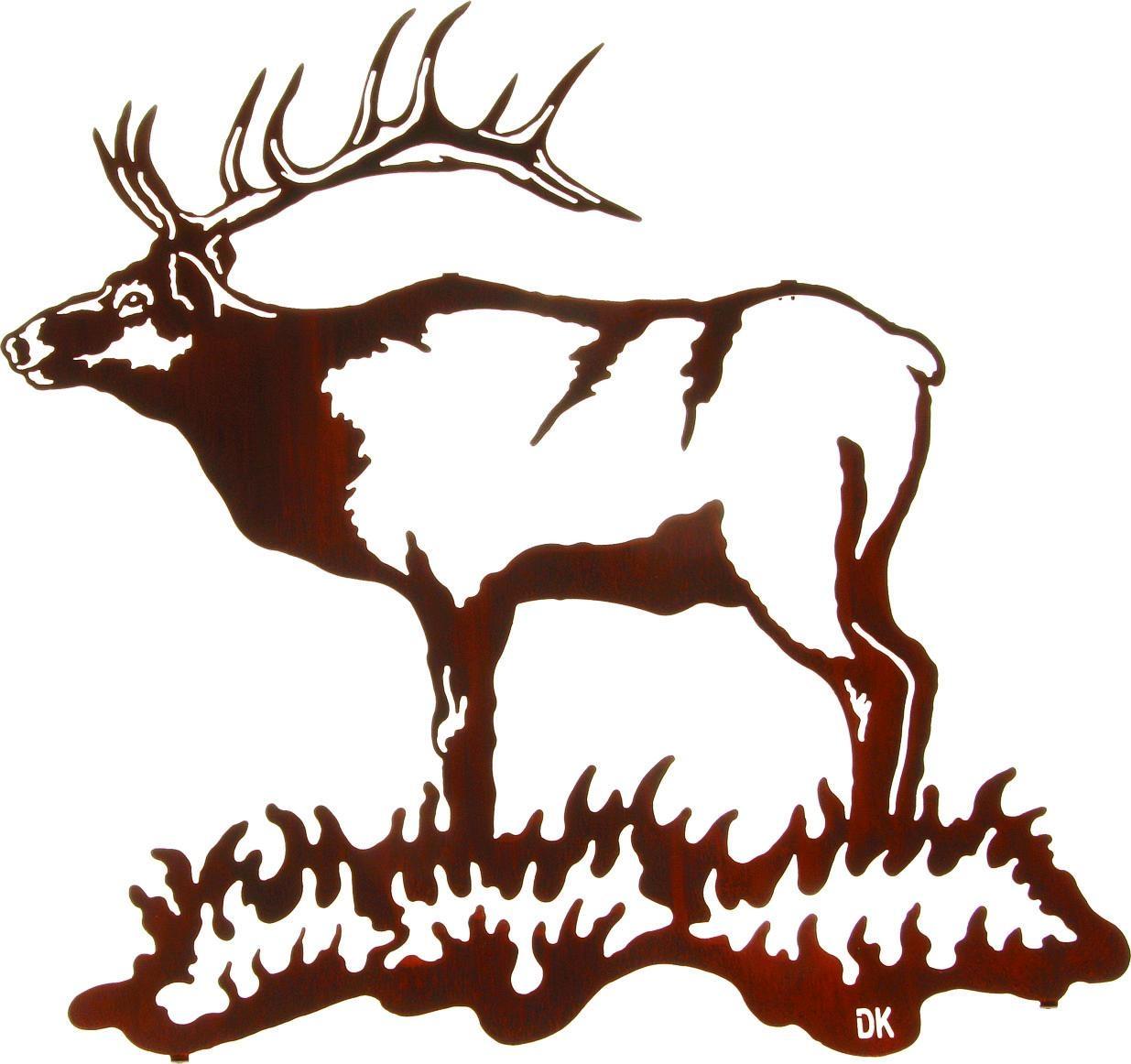 Lazart Elk Metal Wall Art Collection With Regard To Lazart Metal Art (View 14 of 20)