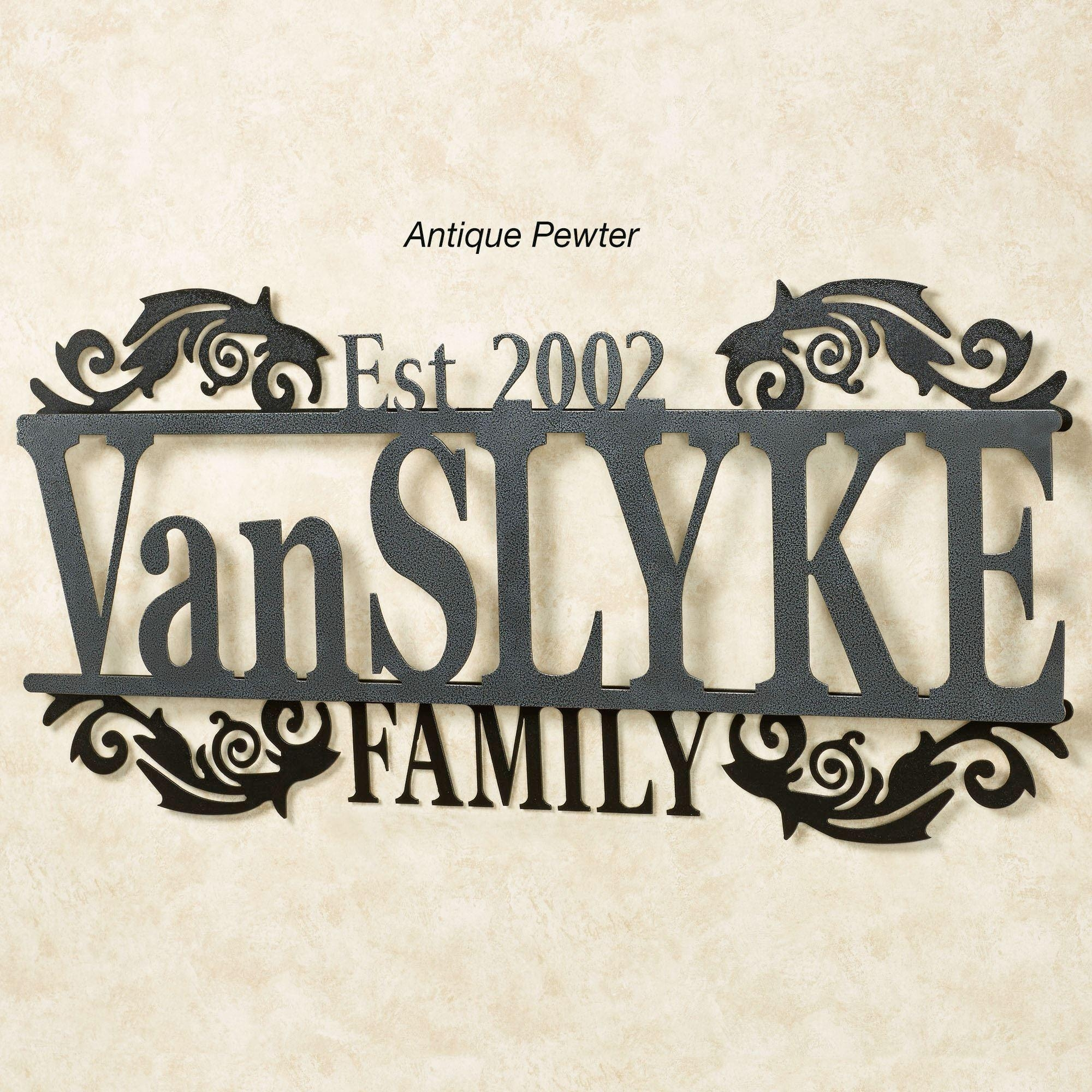 Legacy Family Established Year Personalized Metal Wall Art Sign Intended For Personalized Family Wall Art (View 8 of 20)