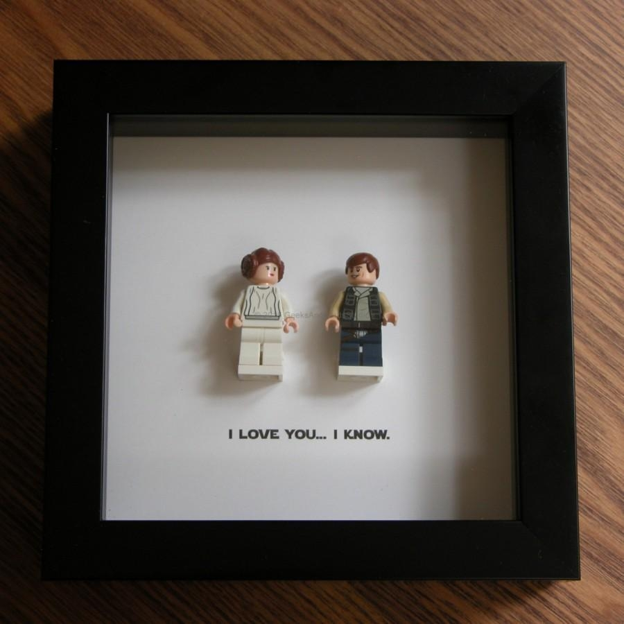 Lego Star Wars Art Frame – Han Solo & Princess Leia – Lego With Lego Star Wars Wall Art (View 19 of 20)