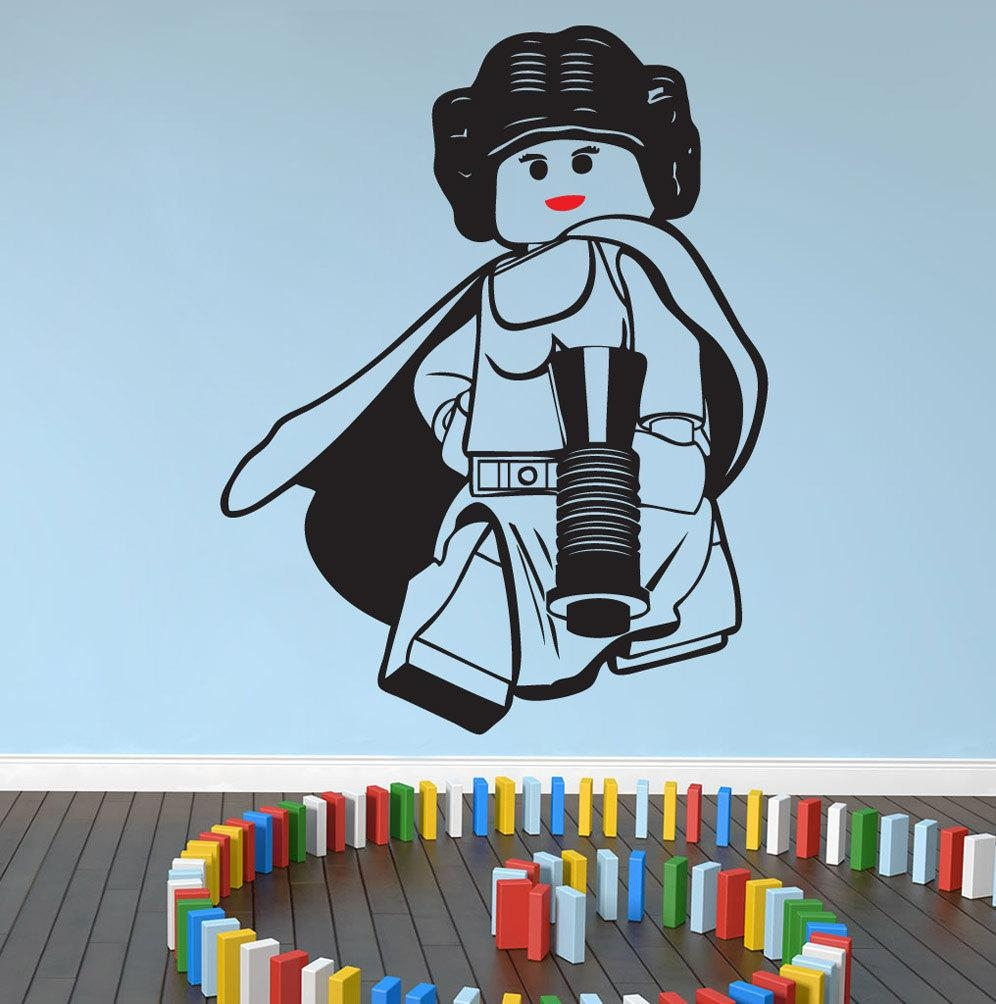 Lego Star Wars Princess Leia Wall Art Wall Stickersdecal Intended For Lego Star Wars Wall Art (View 2 of 20)