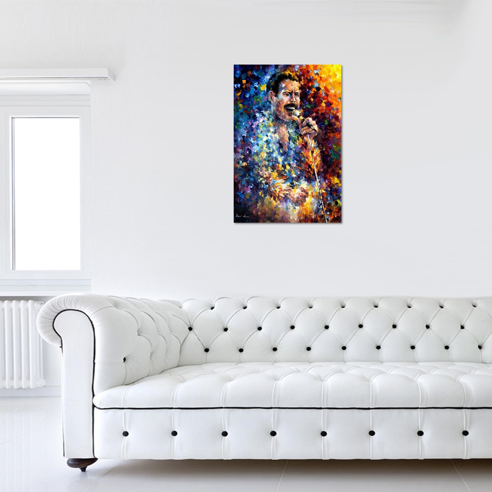 Leonid Afremov Freddie Mercury Canvas – World Art Inside Freddie Mercury Wall Art (View 6 of 20)