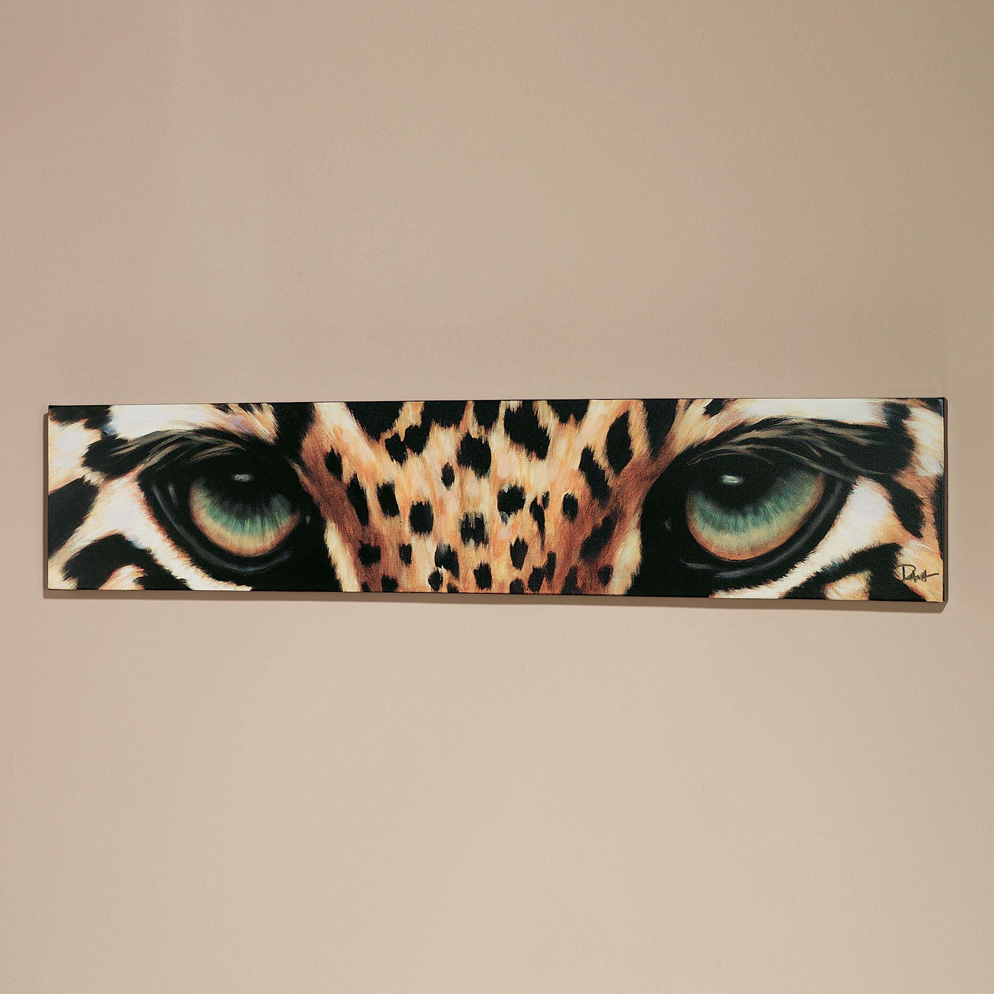 Leopard Eyes Canvas Art Within Burgundy Wall Art (View 15 of 20)