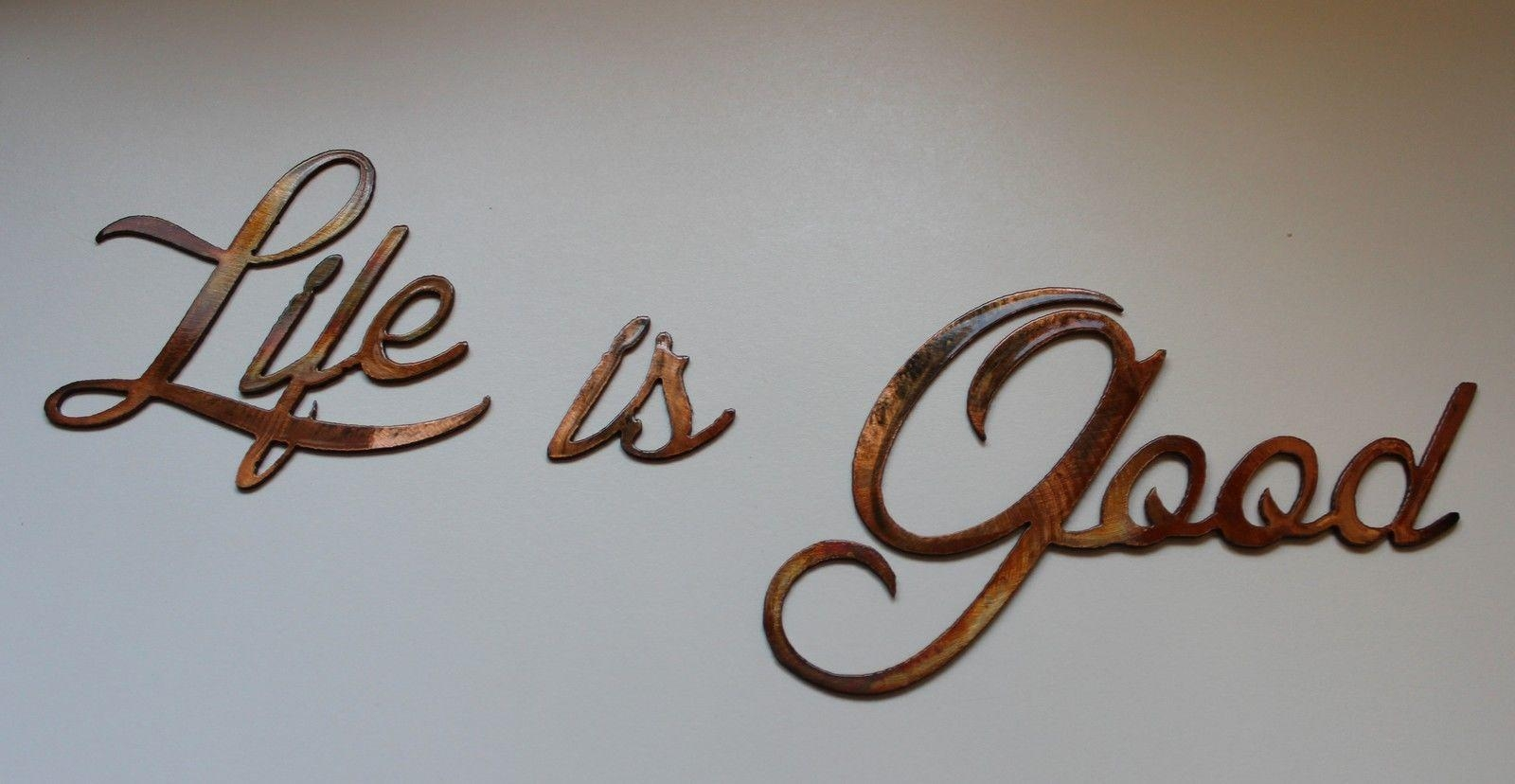 Life Is Good Metal Wall Art Accents Copper/bronze Finish • $ (Image 7 of 20)