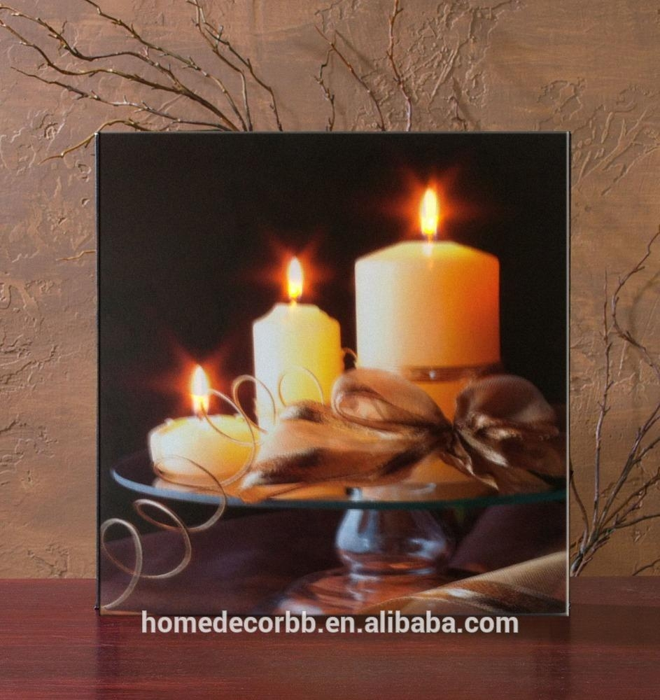 Light Up Candle Wall Picture, Light Up Candle Wall Picture Pertaining To Wall Art With Lights (Image 9 of 20)