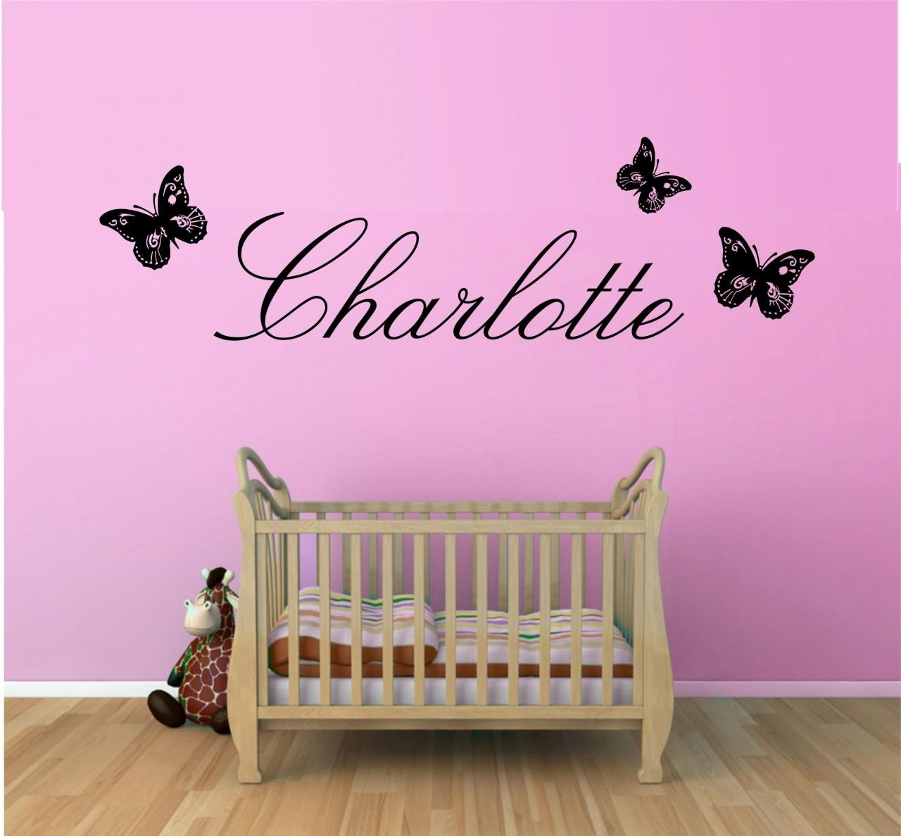Lighten Up The Nursery With Baby Nursery Wall Decals | Amazing Throughout Butterflies Wall Art Stickers (Image 14 of 20)