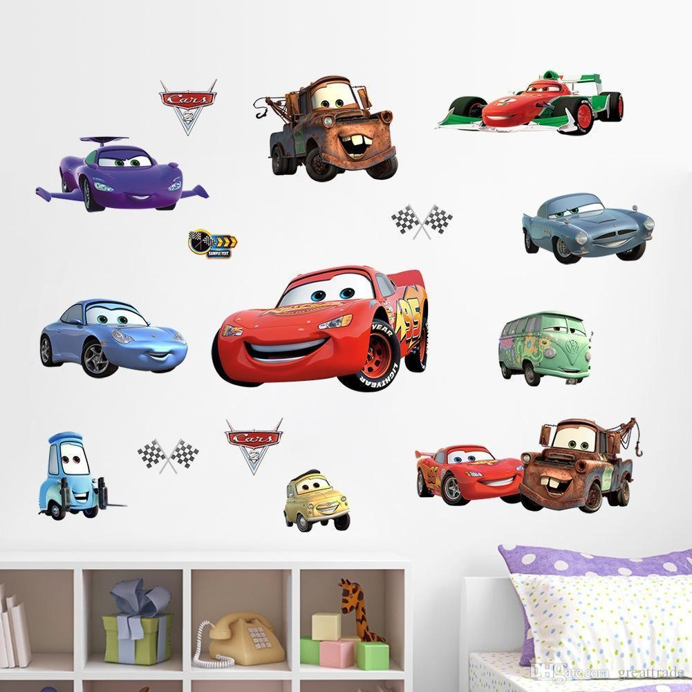Lightning Mcqueen Wall Stickers For Boys Room 3D Children Wall Regarding Lightning Mcqueen Wall Art (View 2 of 20)
