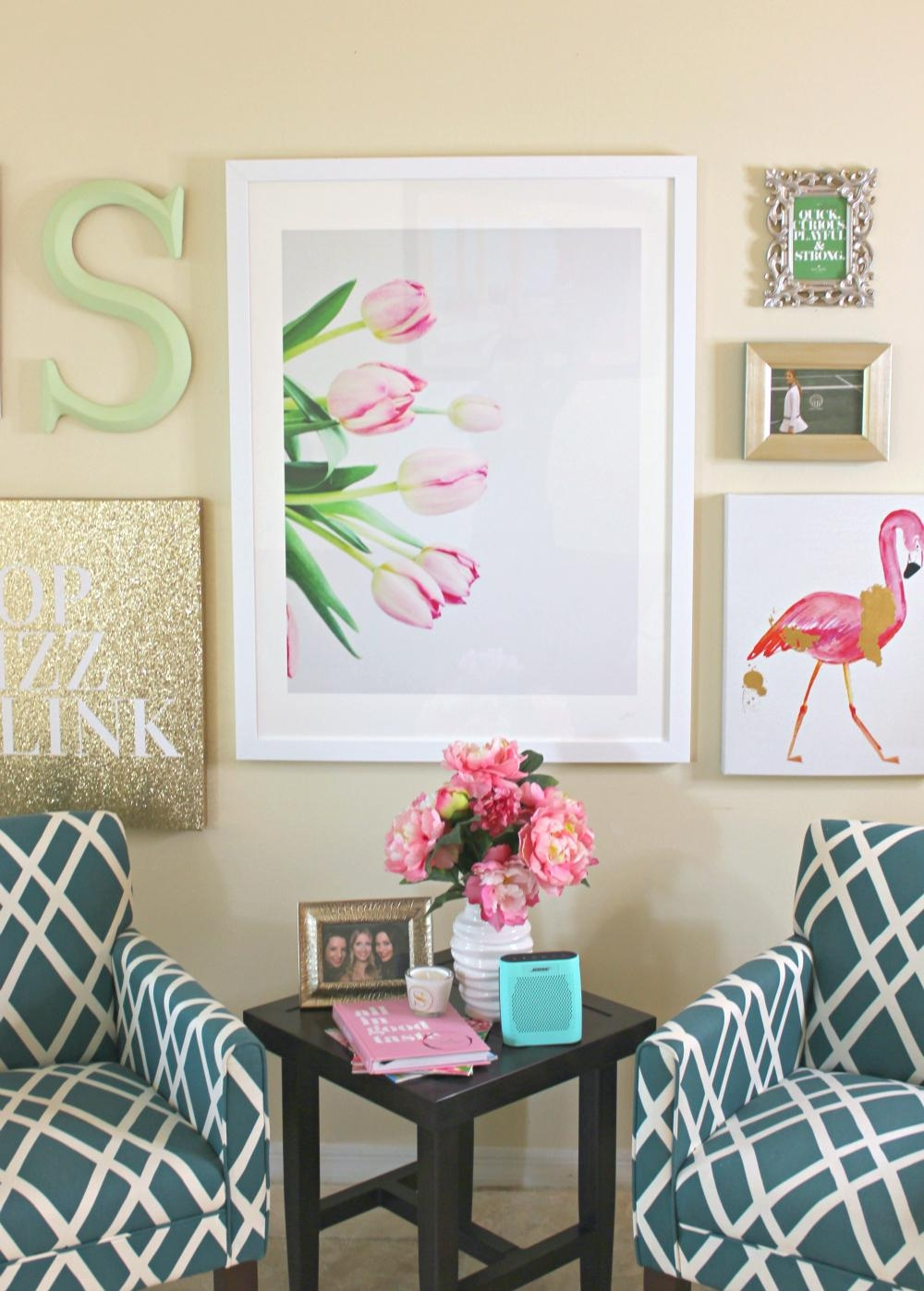 Lilly Pulitzer Inspired Wall Art Collage | Diary Of A Debutante Intended For Vibrant Wall Art (View 7 of 20)