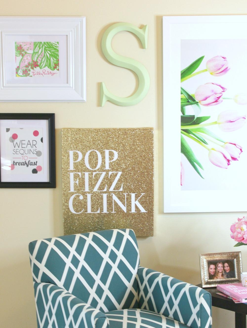 Lilly Pulitzer Inspired Wall Art Collage | Diary Of A Debutante Intended For Vibrant Wall Art (View 4 of 20)