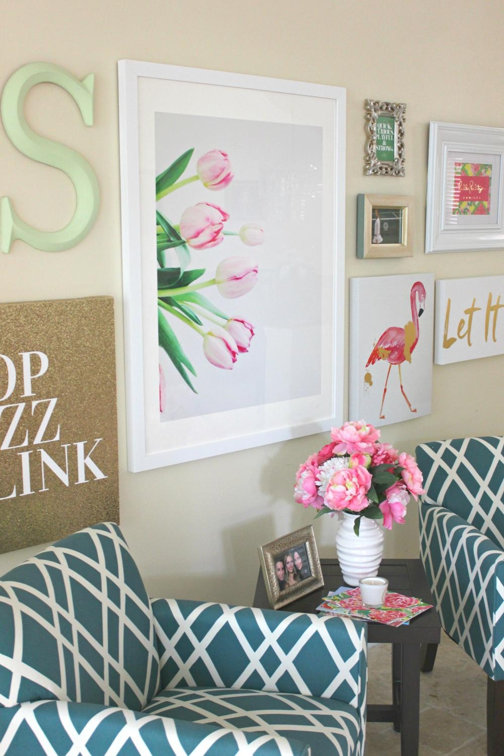 Lilly Pulitzer Inspired Wall Art Collage   Diary Of A Debutante Pertaining To Vibrant Wall Art (Image 12 of 20)