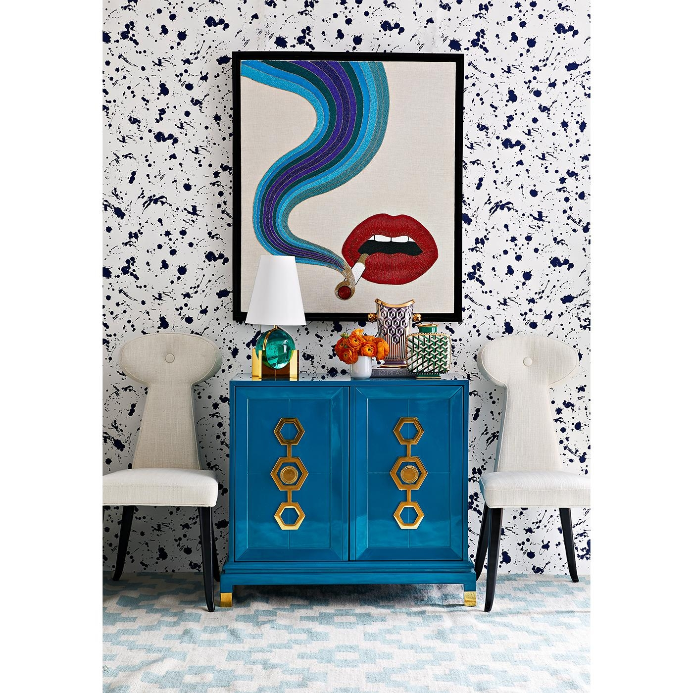 Lips Beaded Wall Art | Modern Art | Jonathan Adler Regarding Blue Wall Art (Image 15 of 20)