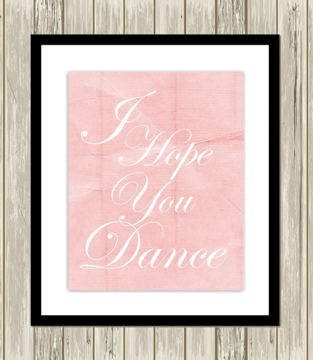 Little Girls Room Wall Art Ballerina Wall Art Ballet Quotes Intended For Little Girl Wall Art (Image 10 of 20)