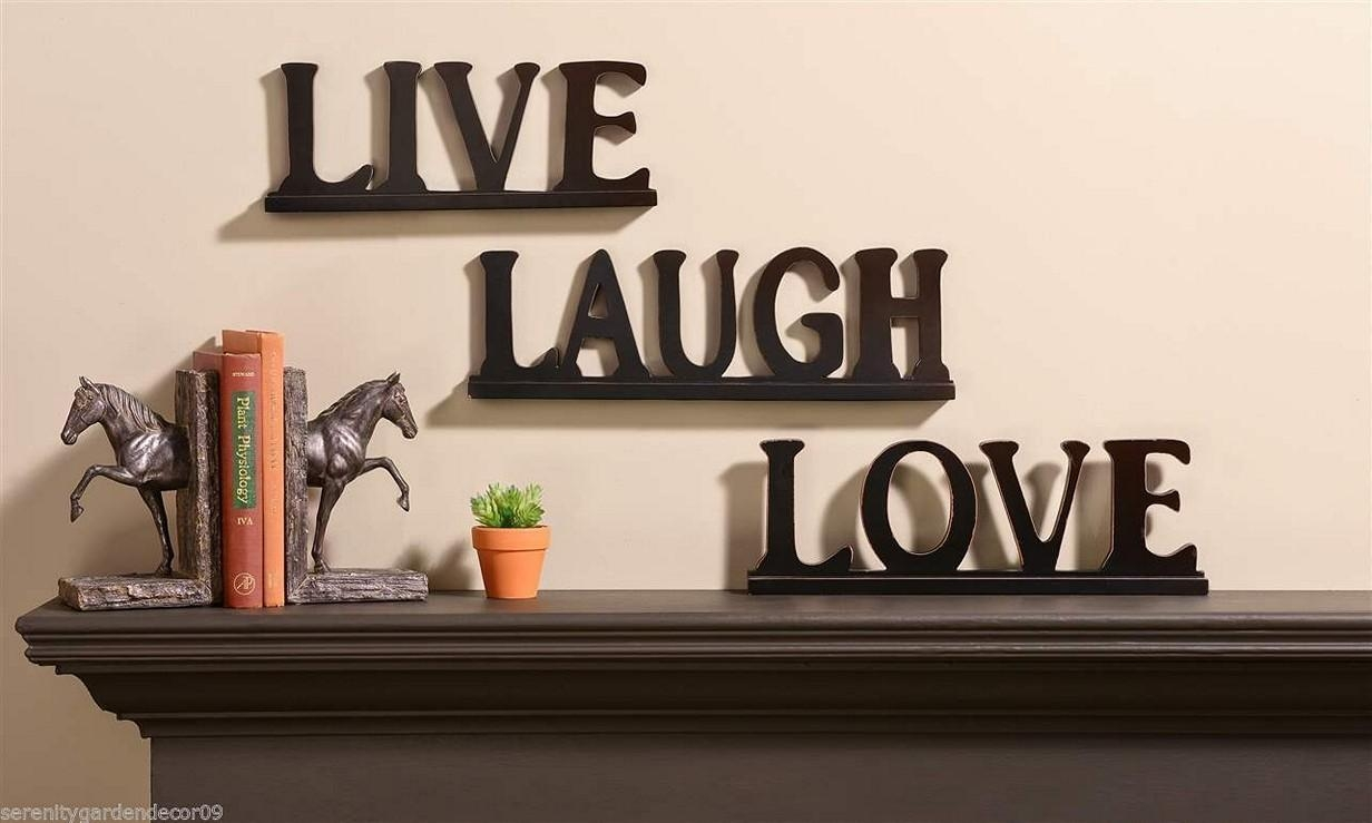 20 photos live love laugh metal wall decor wall art ideas. Black Bedroom Furniture Sets. Home Design Ideas