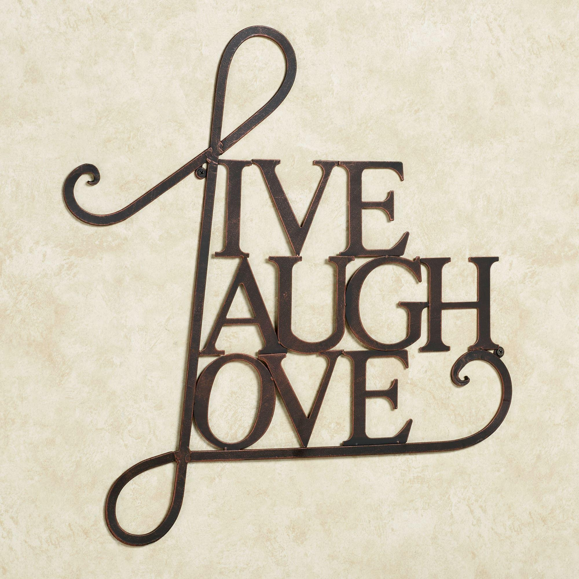 Live Laugh Love Metal Word Wall Art In Metal Word Wall Art (Image 9 of 20)