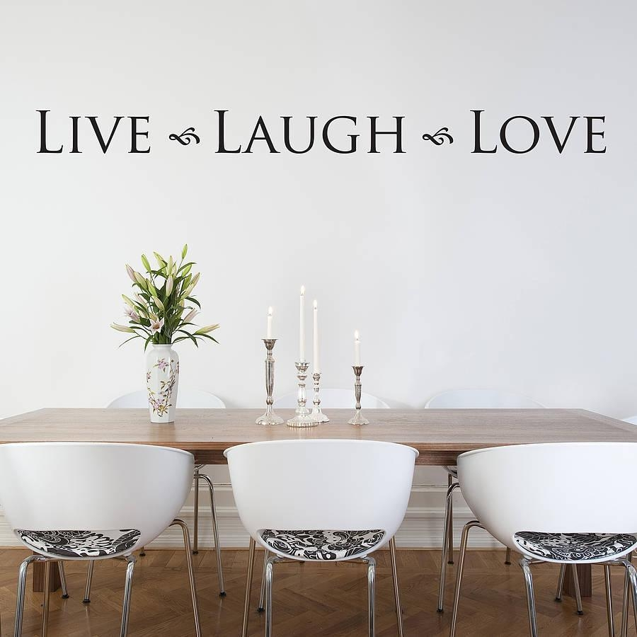 Live Laugh Love' Wall Stickernutmeg | Notonthehighstreet In Love Wall Art (Image 5 of 20)