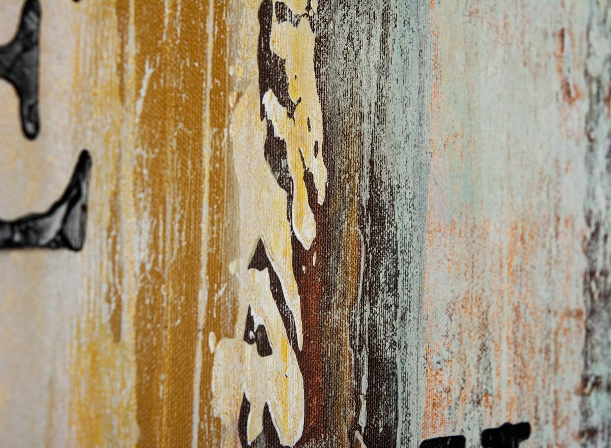 """Live Laugh Loveqiqigallery 48""""x24"""" Abstract Painting Grey Regarding Blue And Cream Wall Art (Image 16 of 20)"""