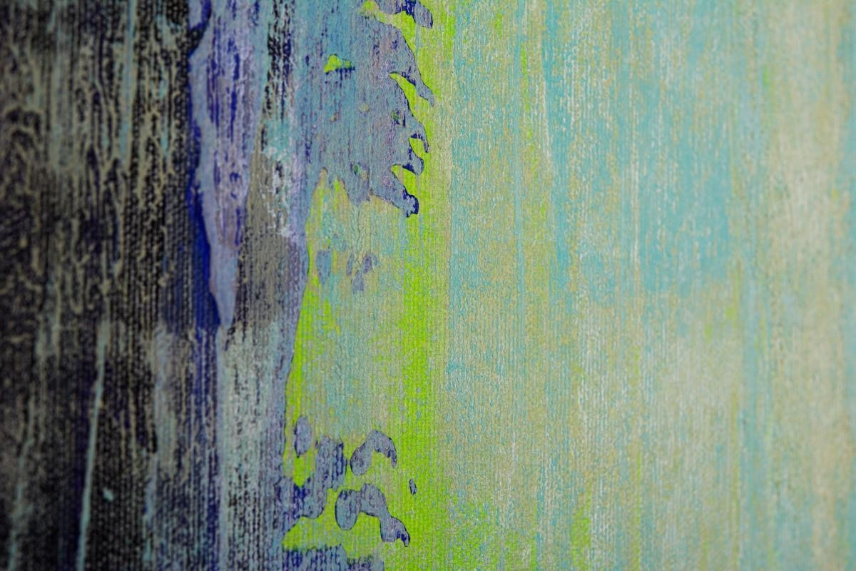 """Live Laugh Loveqiqigallery 48""""x24"""" Abstract Painting Grey With Blue And Cream Wall Art (Image 17 of 20)"""